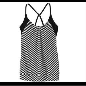 Athleta Blousy Striped Tankini